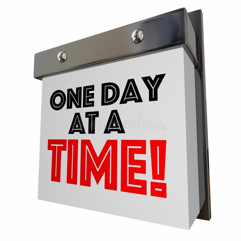 Um dia em um calendário do progresso da paciência do tempo pagina 3D Illustrati ilustração do vetor