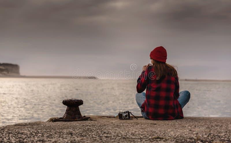 Um dia no lago imagens de stock royalty free