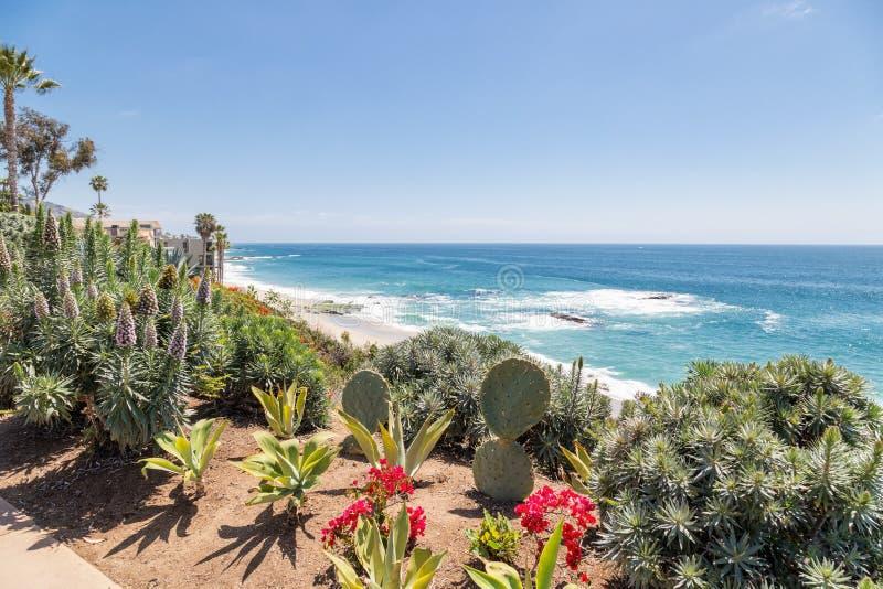 Um dia no Laguna Beach, Califórnia fotos de stock