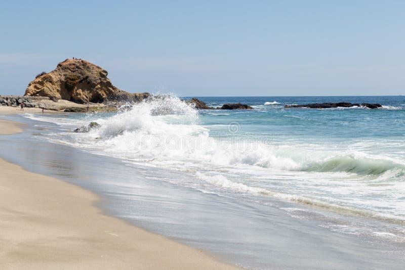 Um dia no Laguna Beach, Califórnia foto de stock