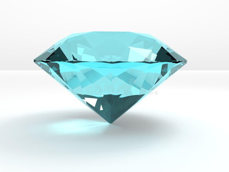 Um diamante de água-marinha ilustração do vetor