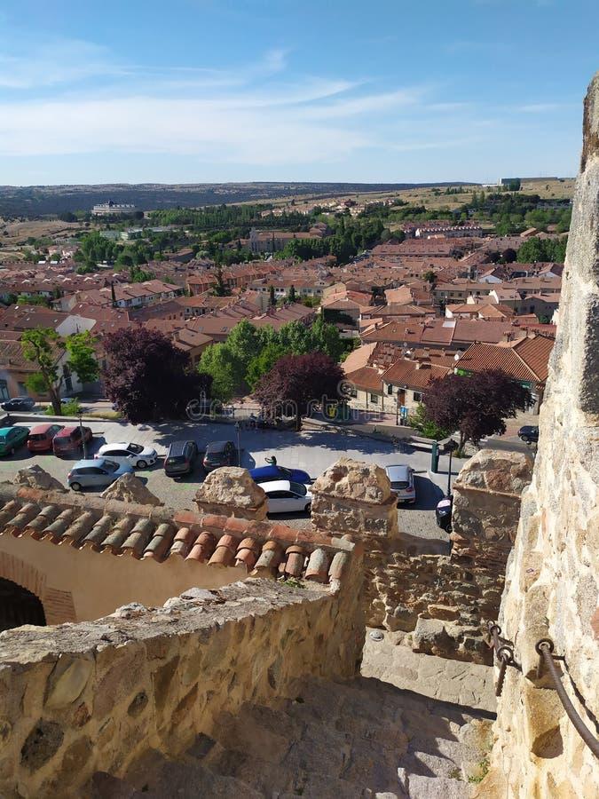 Um die Stadt von Avila gehen, Kastilien y Leon, Spanien lizenzfreie stockbilder