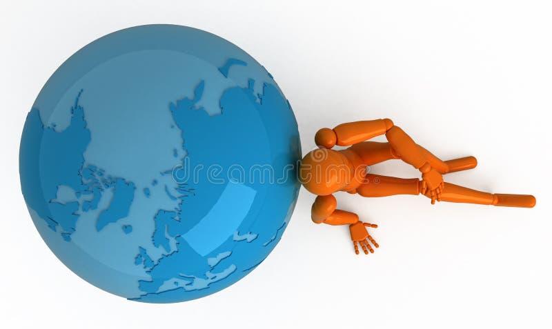 Um die Welt stock abbildung