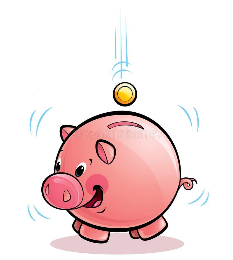 Dinheiro-box do porco ilustração do vetor