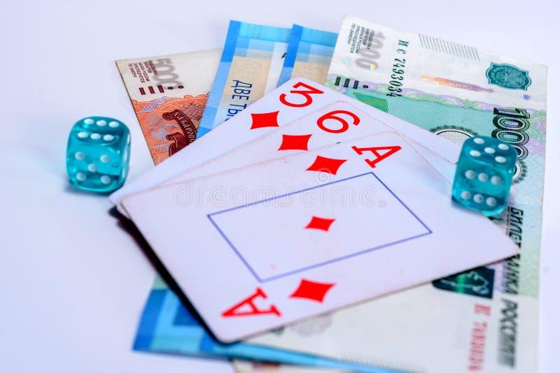 Um dinheiro perdedor e ganhando que joga foto de stock royalty free