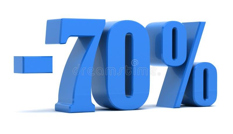 um disconto de 70 por cento ilustração do vetor