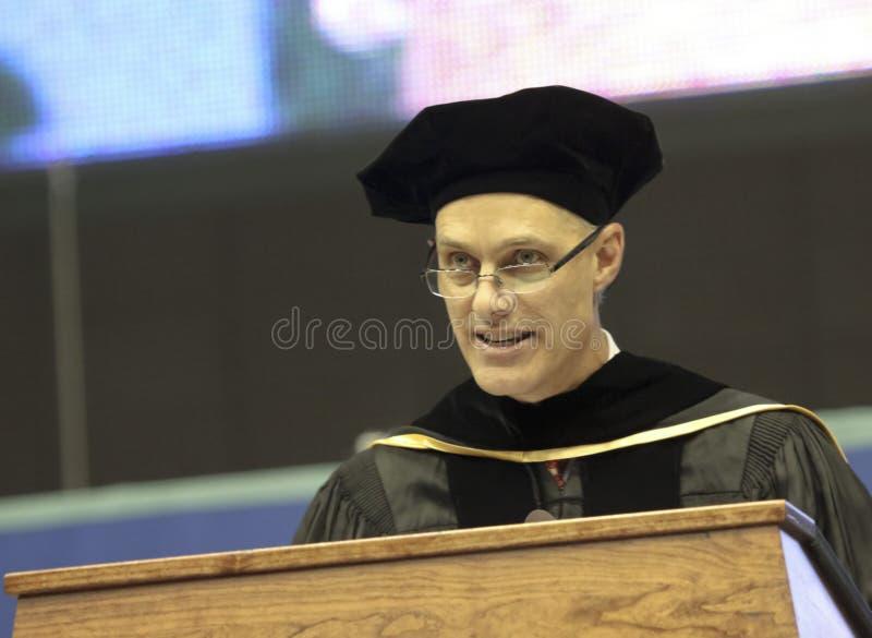 Um discurso do começo por David Mangelsdorf em NAU imagem de stock royalty free