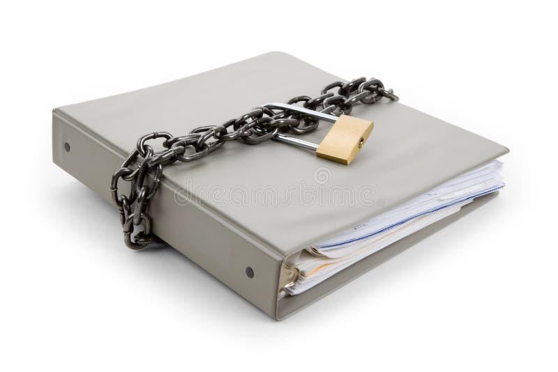 Um documento confidencial imagem de stock