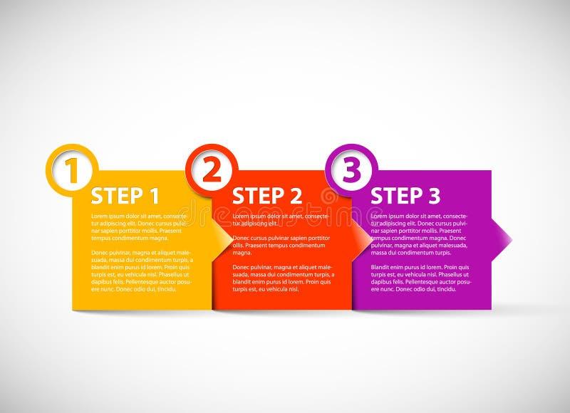 Um dois três - etapas de papel do vetor ilustração do vetor