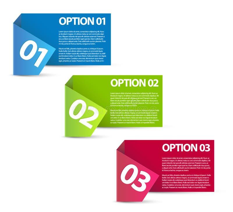 Um dois três - opções de papel do vetor ilustração do vetor