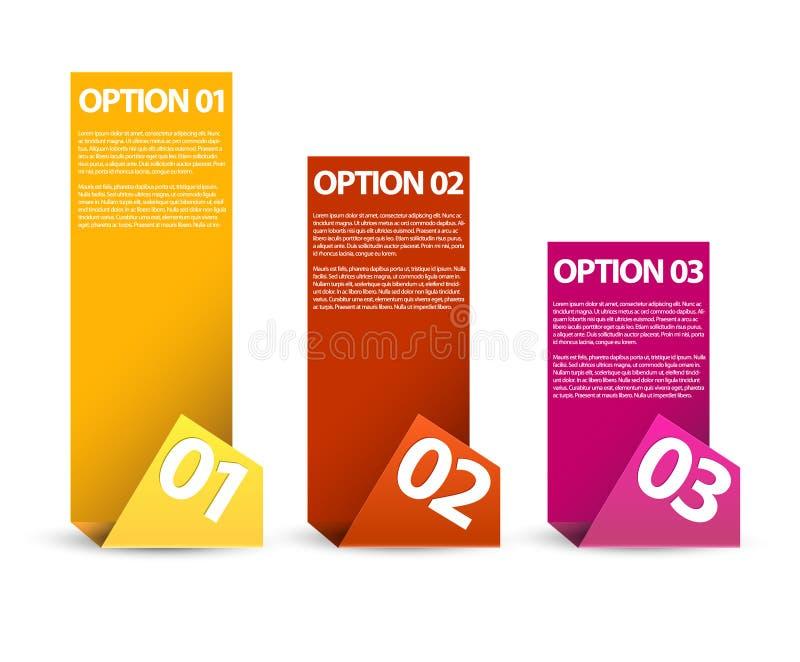 Um dois três - opções de papel do vetor ilustração royalty free