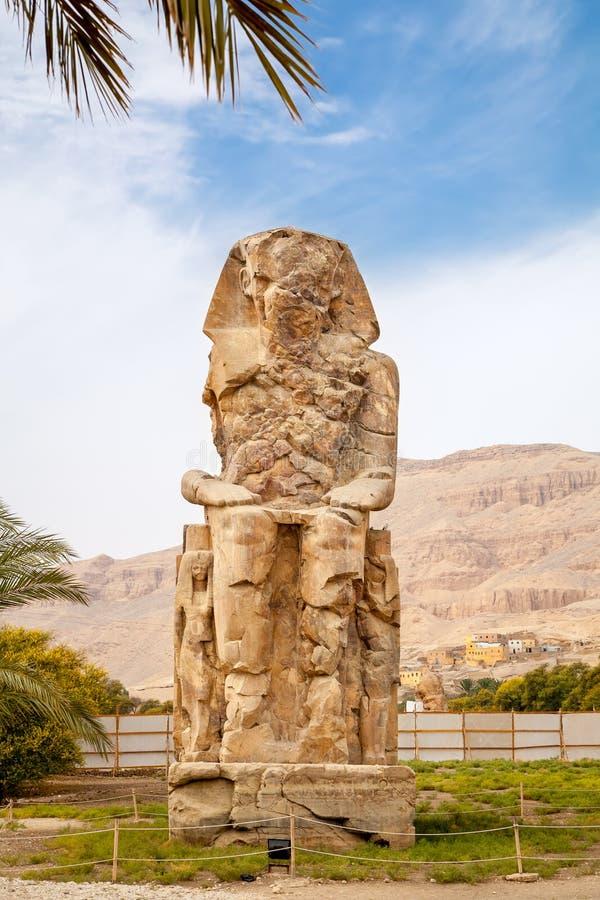 Colossi de Memnon. Luxor, Egipto fotos de stock
