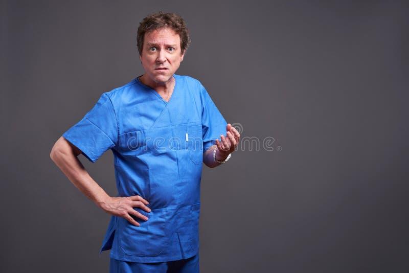 Um doutor masculino fotografia de stock