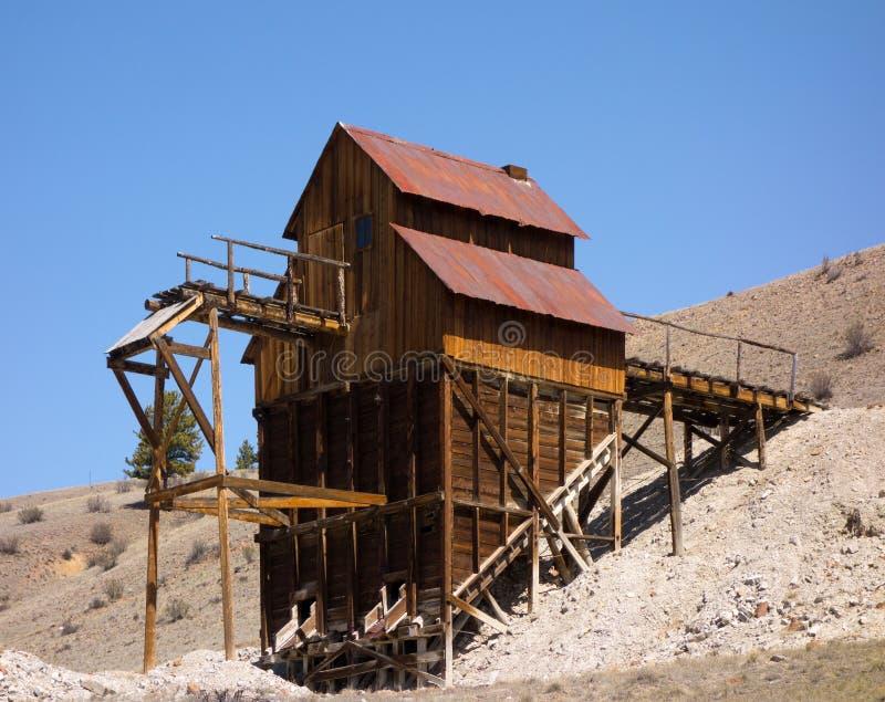 Um eixo de mineração preservado em Colorado foto de stock