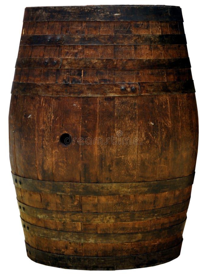 Um entalhe de madeira do tambor isolado imagem de stock royalty free