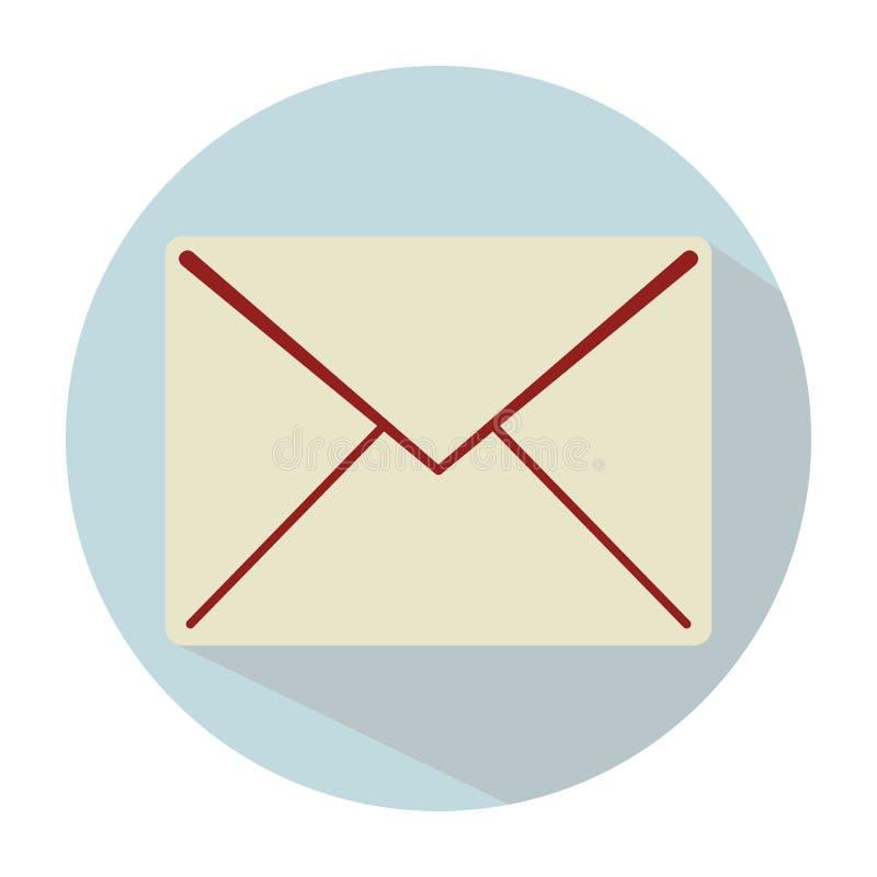 Um envelope claro simples da letra em um fundo azul com um shado ilustração royalty free