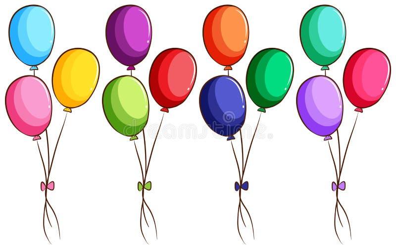 Um esboço colorido simples dos balões ilustração stock