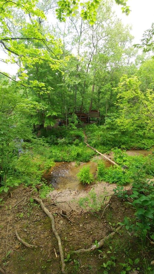 Um escape bonito O acampamento América de Hannon, Ohio fotos de stock