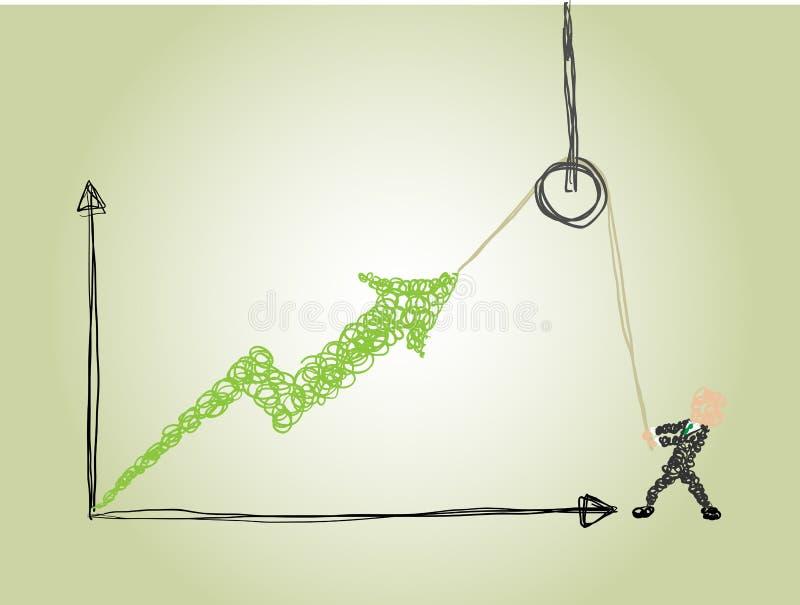 Um esforço para fazer o negócio crescer ilustração do vetor