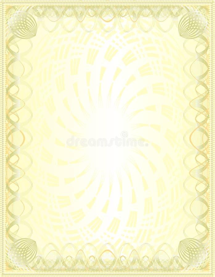 Um espaço em branco dourado luxuoso ilustração royalty free