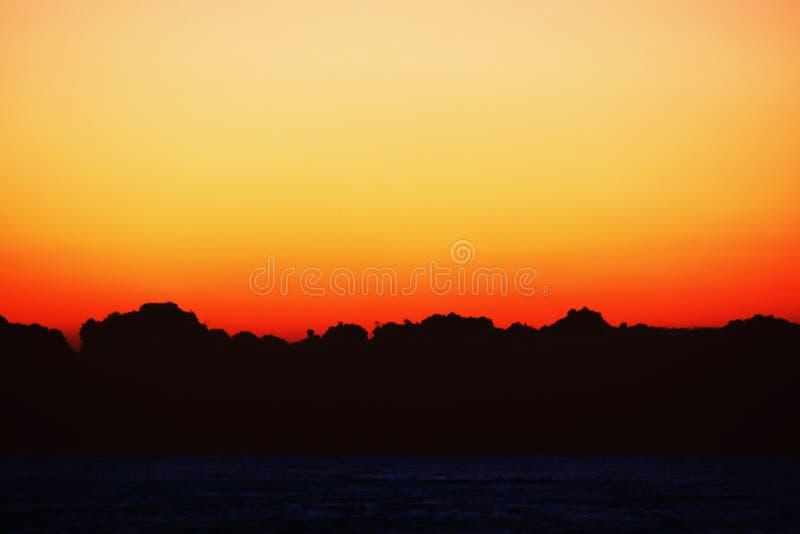 Um espetáculo fantástico o nascer do sol imagens de stock royalty free