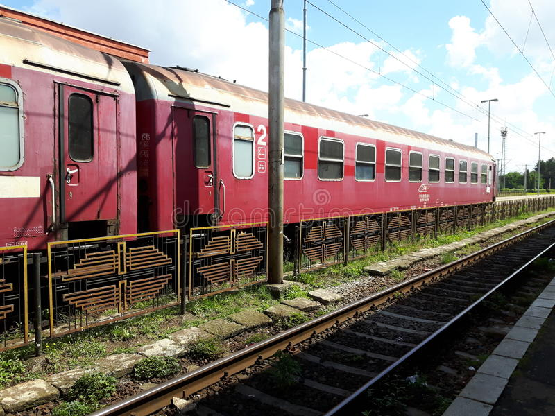 Um estação de caminhos-de-ferro imagens de stock royalty free