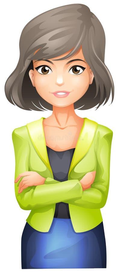 Um executivo empresarial ilustração royalty free