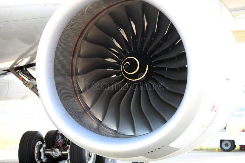 Um fã de um motor Rolls&Royce A350-800 Airbus imagem de stock