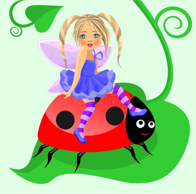 Um fairy pequeno ilustração royalty free