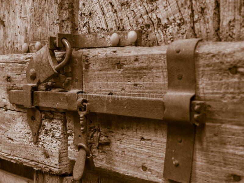 Um fechamento muito velho foto de stock