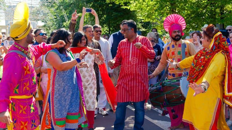 Um festival indiano em Moscou fotos de stock