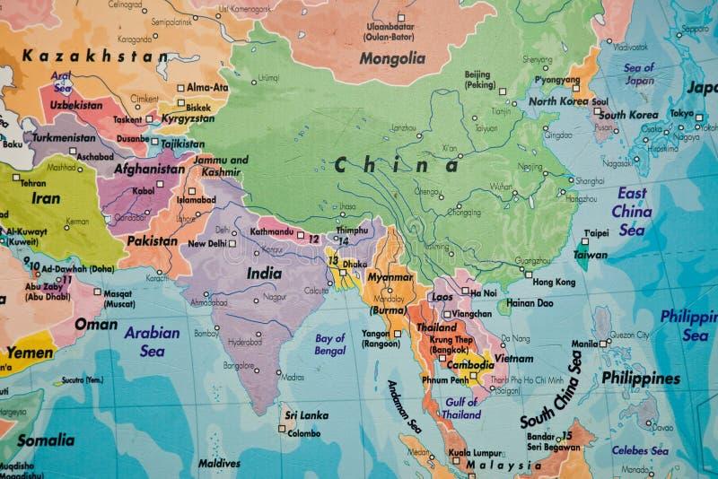 Mapa de Ásia fotos de stock royalty free