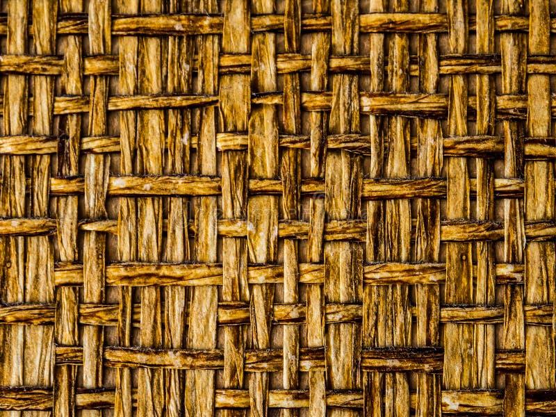 Um fim acima do teste padrão marrom da superfície do basketweave para o fundo fotografia de stock