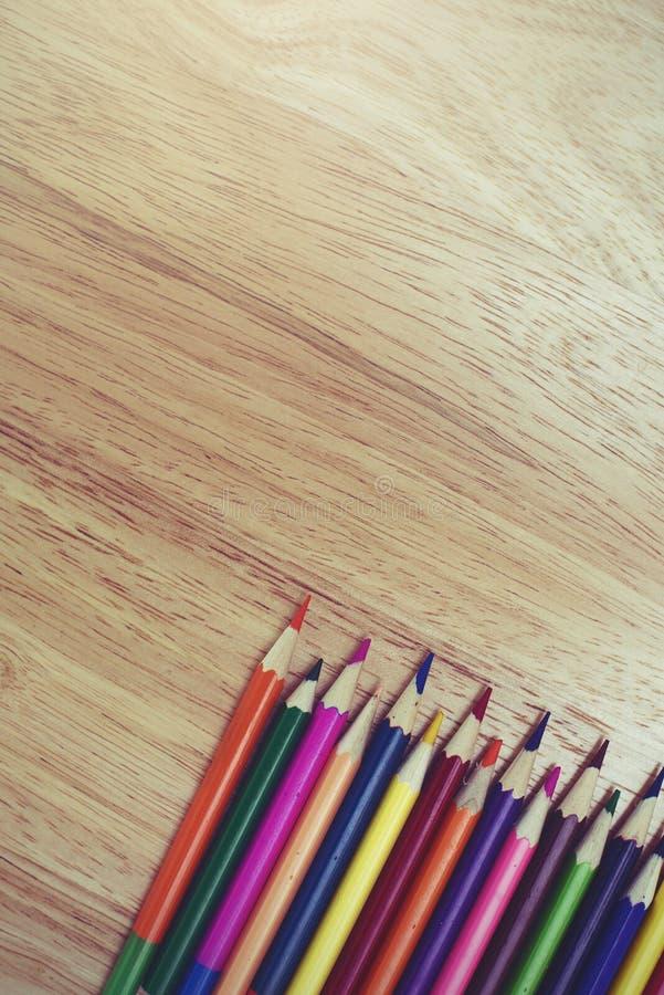 Um fim do estúdio acima da foto da coloração escreve imagens de stock