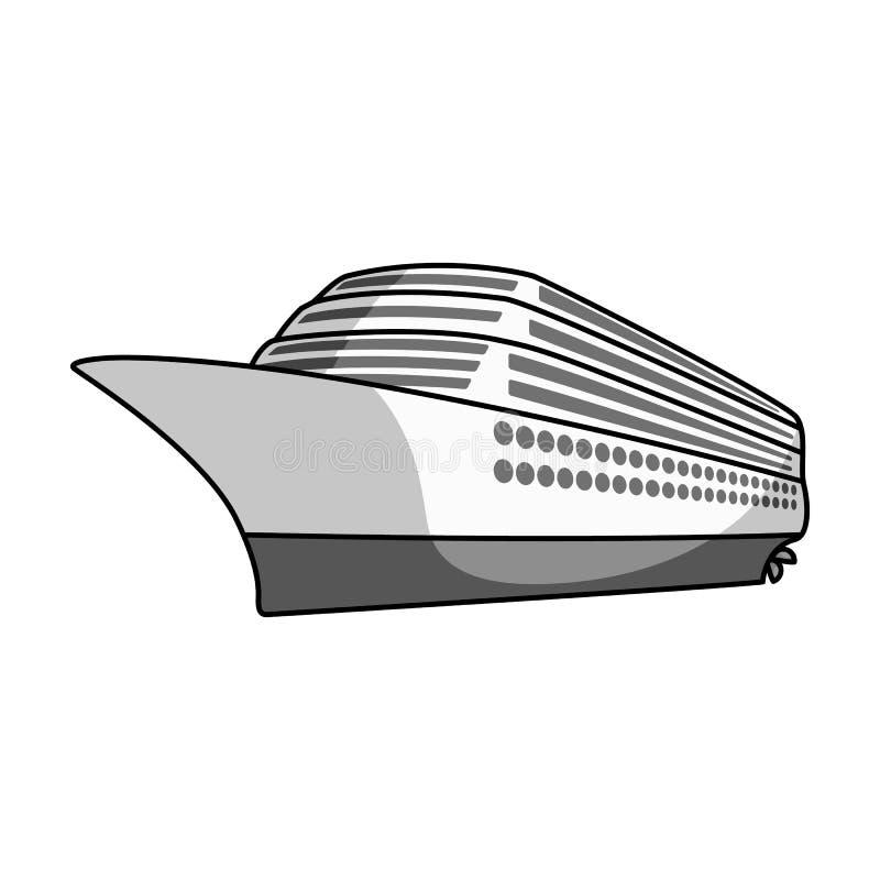 Um forro enorme do cruzeiro Veículo para viajar sobre distâncias longas a um grande número de povos Transporte do navio e da água ilustração royalty free