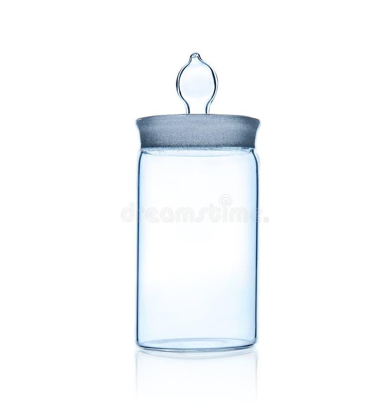 Um frasco do vidro do laboratório foto de stock