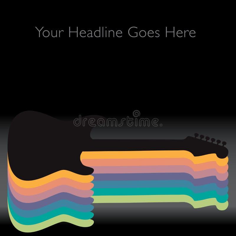 Um fundo abstrato colorido da guitarra ilustração do vetor