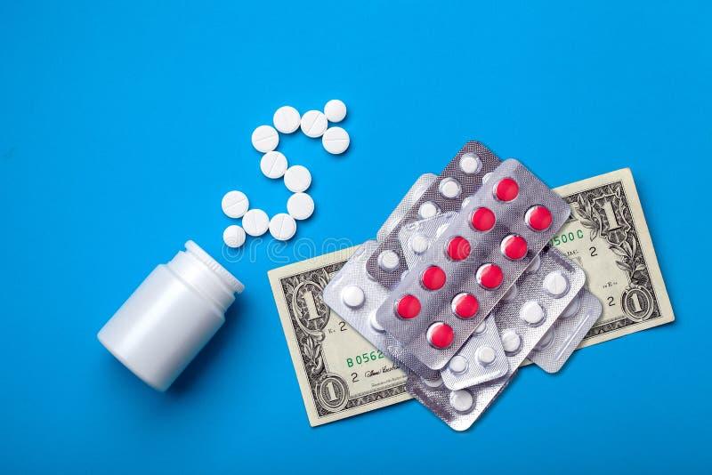 Um fundo conceptual na indústria farmacêutica fotografia de stock royalty free