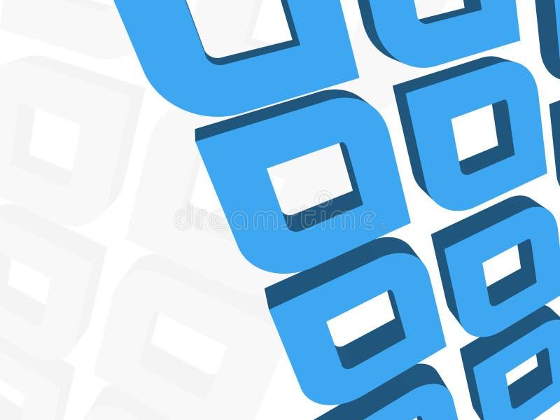 Um fundo corajoso do azul 3d ilustração stock