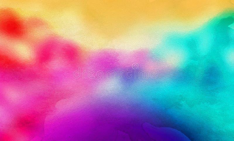 Um fundo da aquarela do sumário do arco-íris ilustração royalty free