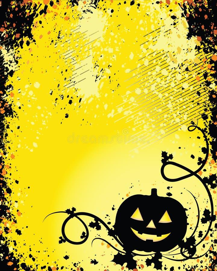 Um fundo de incandescência para Halloween ilustração do vetor