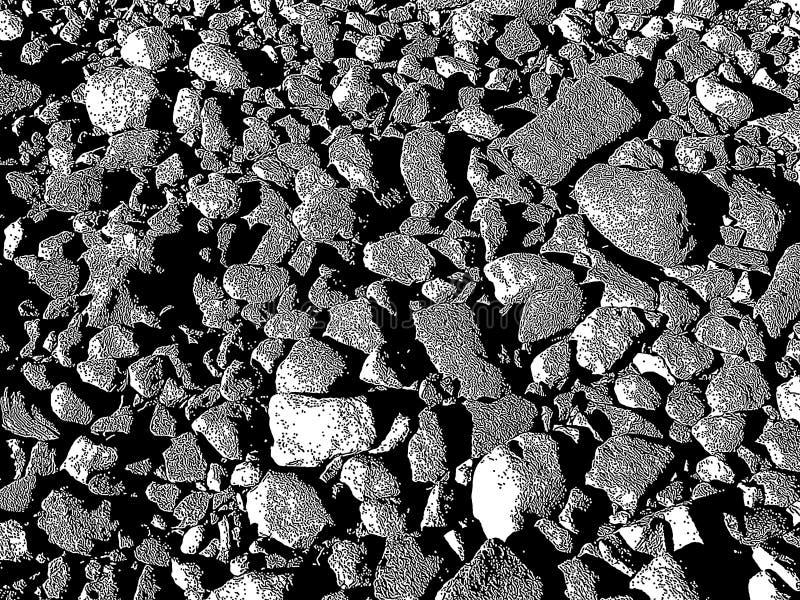 Um fundo estilizado de rochas do rio foto de stock