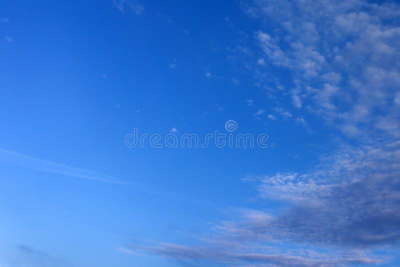 Um fundo macio da nuvem, céu azul com nuvem imagens de stock