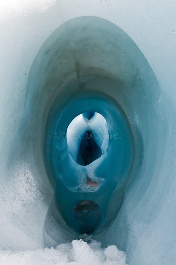 Um furo no gelo fotos de stock