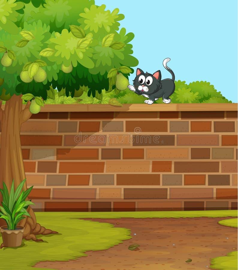 Um gato ilustração stock
