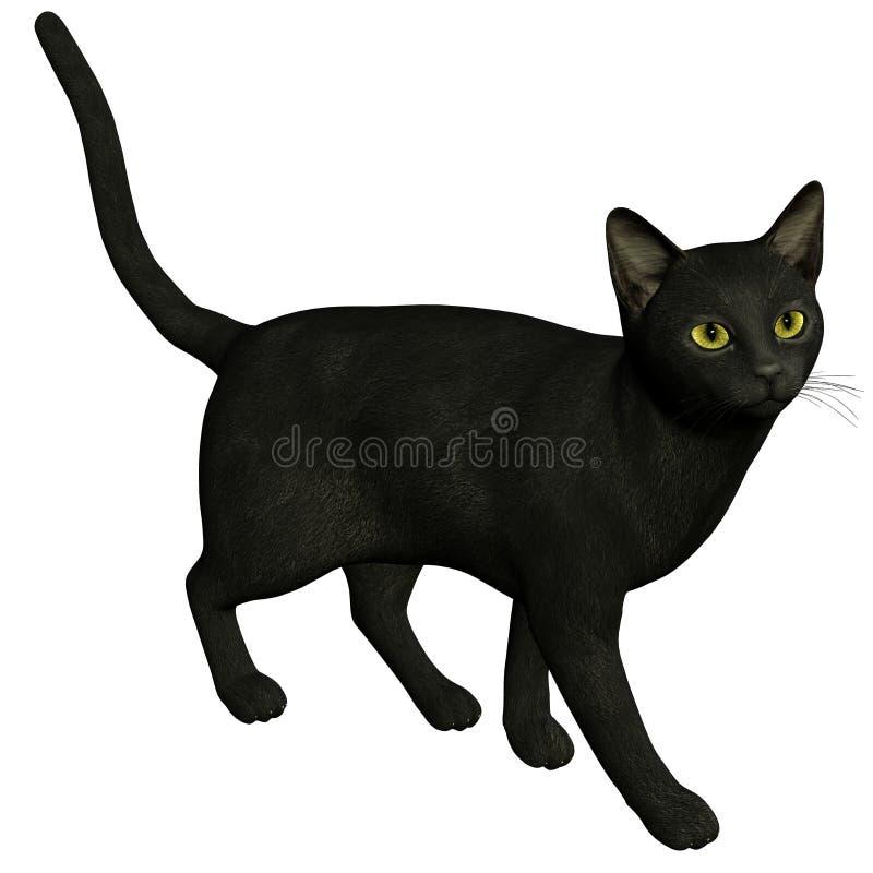 Um gato preto ilustração stock