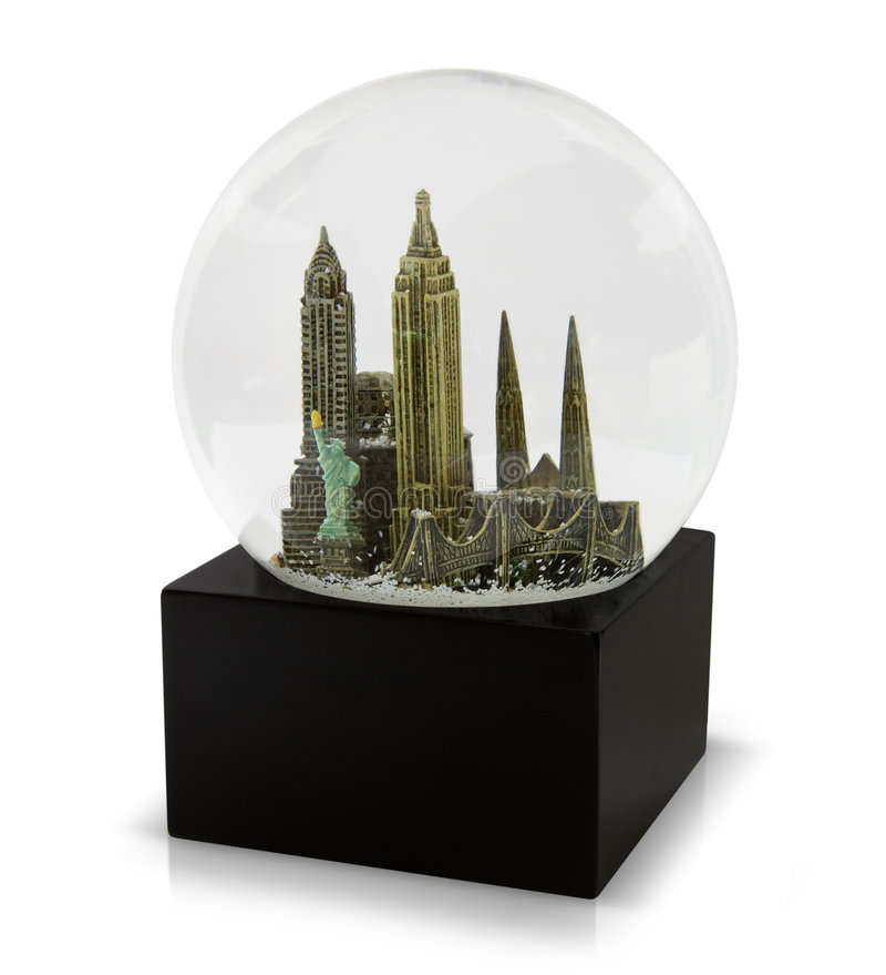 Um globo da neve de New York City fotografia de stock royalty free