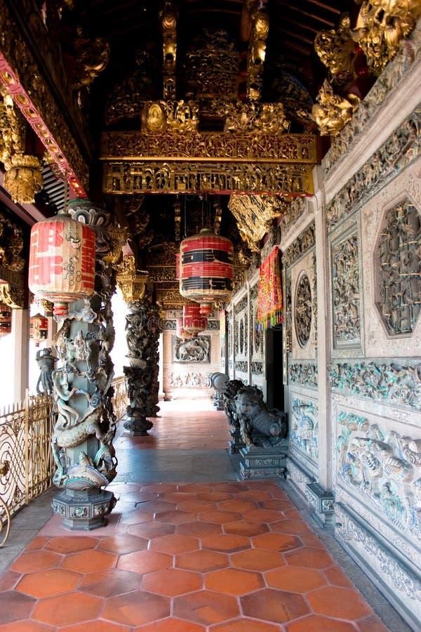 Um grande templo majestoso grande do clã em penang fotos de stock royalty free