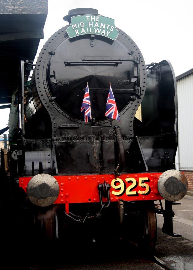 Um grande trem de trabalho velho do vapor fotos de stock royalty free