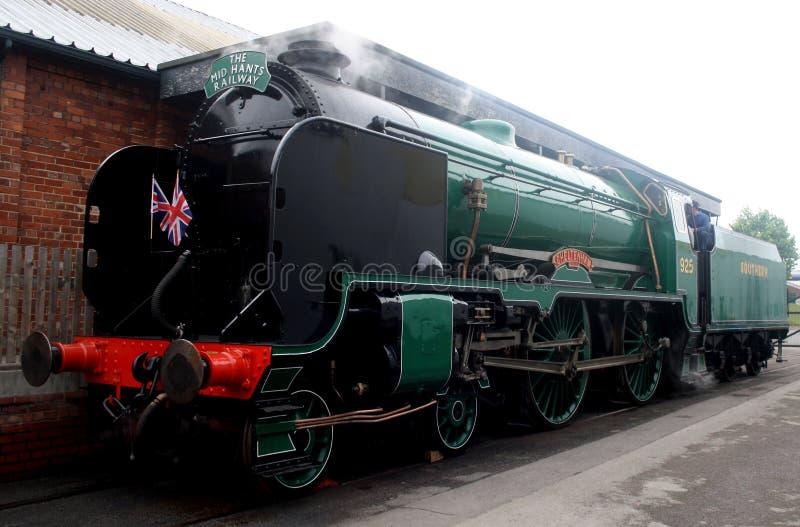 Um grande trem de trabalho velho do vapor imagem de stock royalty free